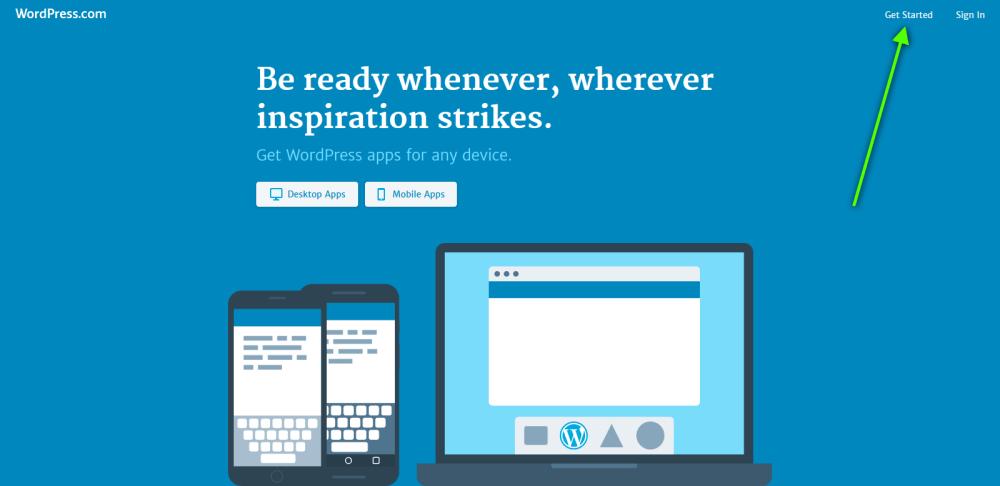 wpcom get started