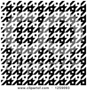 1259093-Clipart-Of-A-Seamless-Black-And-White-Houndstooth-Pattern-Royalty-Free-Vector-Illustration