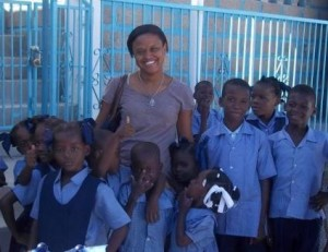 Yasmine Cajuste in Haiti