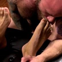 boy feet licking