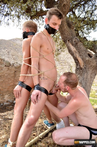 tied boy slaves