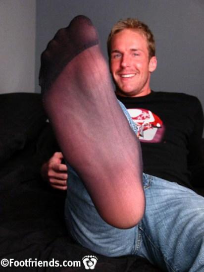male nylon feet