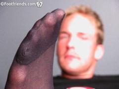 gay feet in mylon