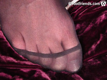 twink nyloned toes