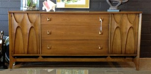 Brasilia by BROYHILL, buffet base. Three center drawers. $1400