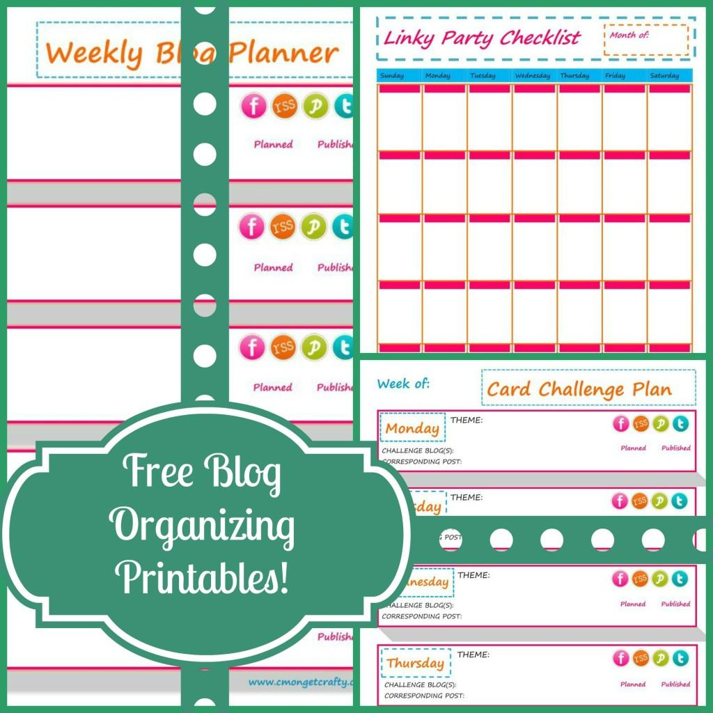 Free Blog Organization Printables