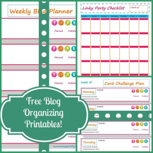Free Blog Organization Printables!