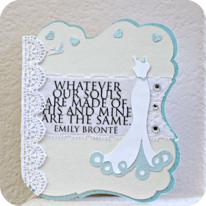 Get Crafty with Cards: Shabby Chic Wedding Card
