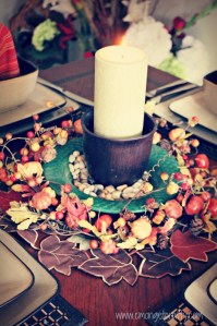Autumn Tablescape for a Small Table