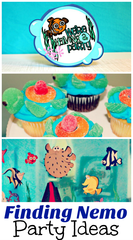 Plenty of ideas for food and decorations for your own Finding Nemo birthday party!