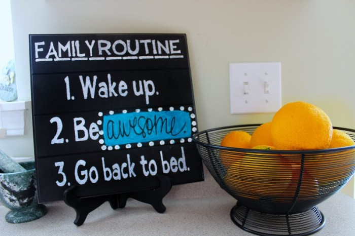 Awesome Family Sign DIY