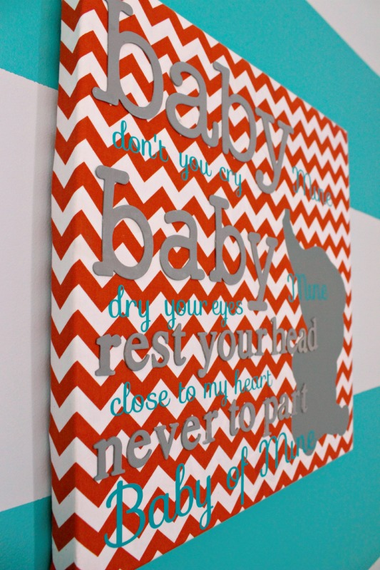 Orange & Teal Nursery Reveal