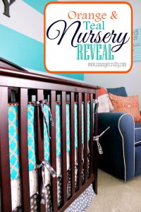 My Orange & Teal Nursery Reveal