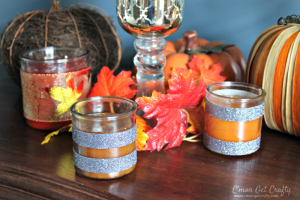 Simple Candle Decorations for Autumn