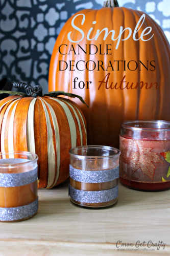 Simple candle decoration