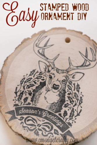 Easy Stamped Wood Ornament DIY