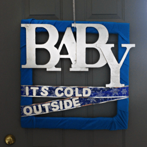 Picture Frame Wreath DIY : Baby, It's Cold Outside