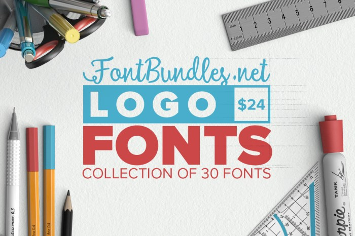 awesome fonts to build your logo