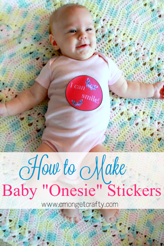 Learn how to make your own monthly baby stickers with this easy tutorial - awesome gift for baby showers and new moms!