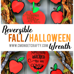 Transform between seasons with ease. Try making this easy reversible fall and Halloween wreath to keep your decor changes simple!