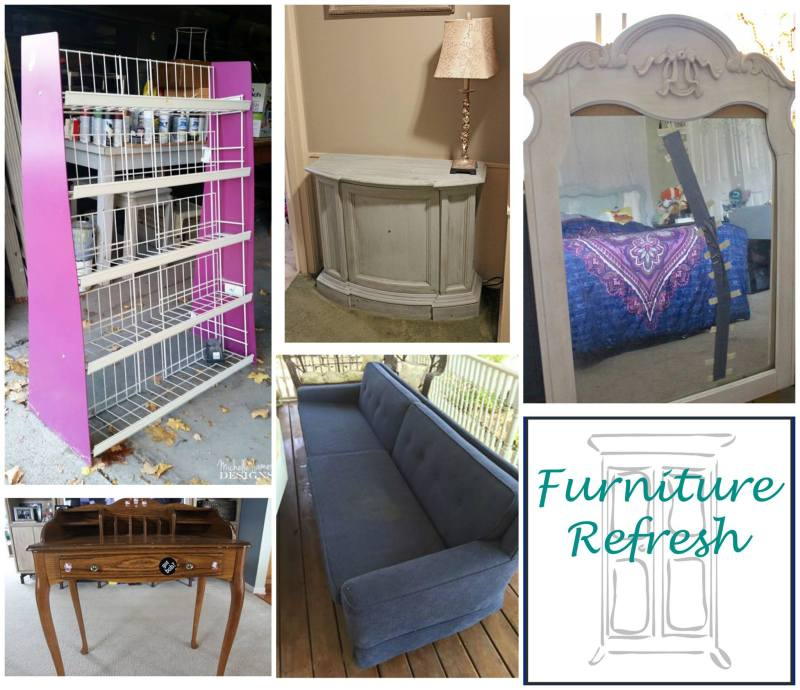 Do you have a tired old piece of furniture in dire need of a refresh? Check out our monthly challenge, where we update all kinds of pieces!