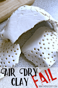 Air Dry Clay Vase – FAIL {Create and Share Challenge}
