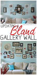 Tips for Updating a Bland Gallery Wall {Monthly Crafty De-Stash Challenge}