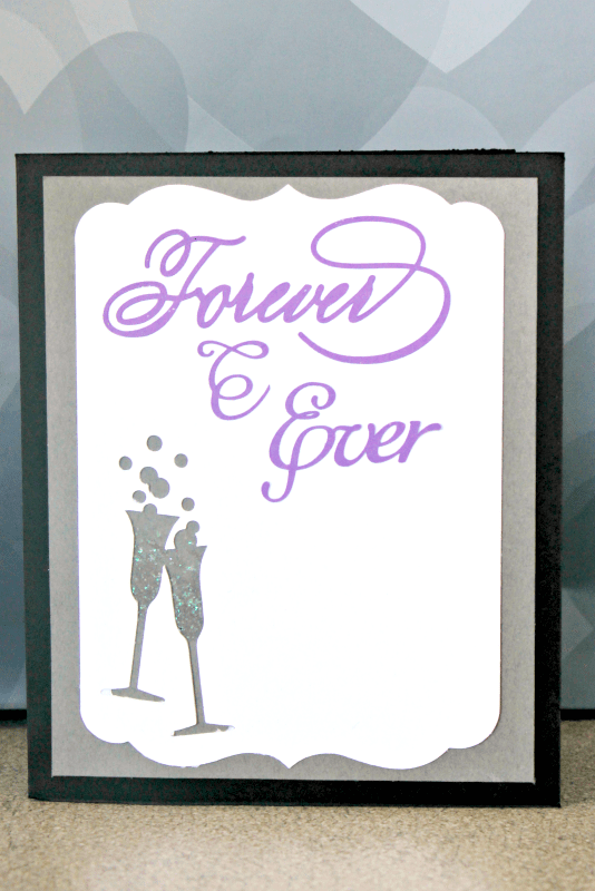"I was inspired by an iconic moment in ""My Best Friend's Wedding"" to create this wedding card from my leftover paper scraps - and I'm showing you how! #MovieMondayChallenge"