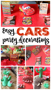 Disney Cars Birthday Party – EASY Party Decorations