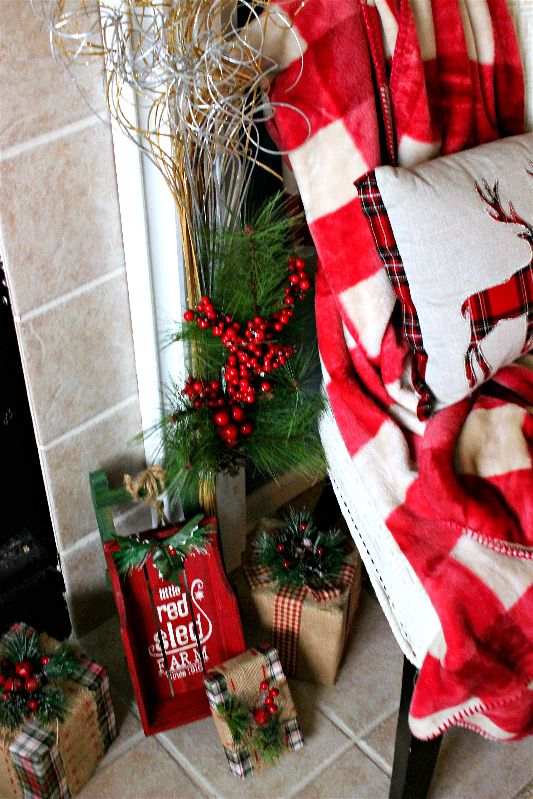 You can style a beautiful traditional Christmas mantel for under $100 with these fab finds! #AtHomeStores #sponsored