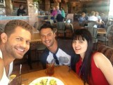 Breaking for lunch at Sammy's Woodfired Pizza with the Jameses.