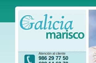 Detalle del logotipo de Galicia Marisco