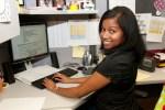 woman at computer smiling (2)