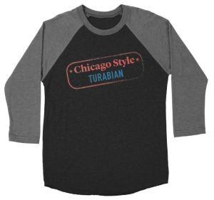 Image of baseball shirt with Chicago Style Turabian logo