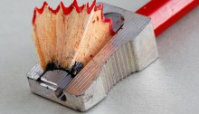 Pencil sharpener and pencil