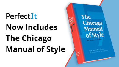 PerfectIt Now Includes The Chicago Manual of Style