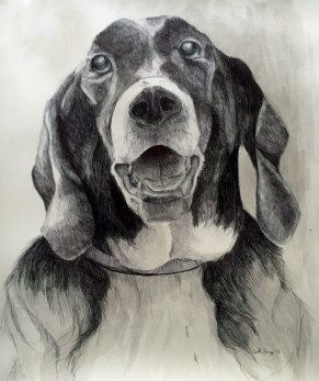 Marshall, pen and ink on paper -private collection