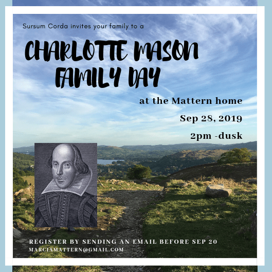 Charlotte Mason Family Day 2019, A Continuing Conversation, CM Peoria