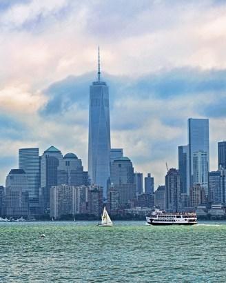 NY Skyline from Ferry