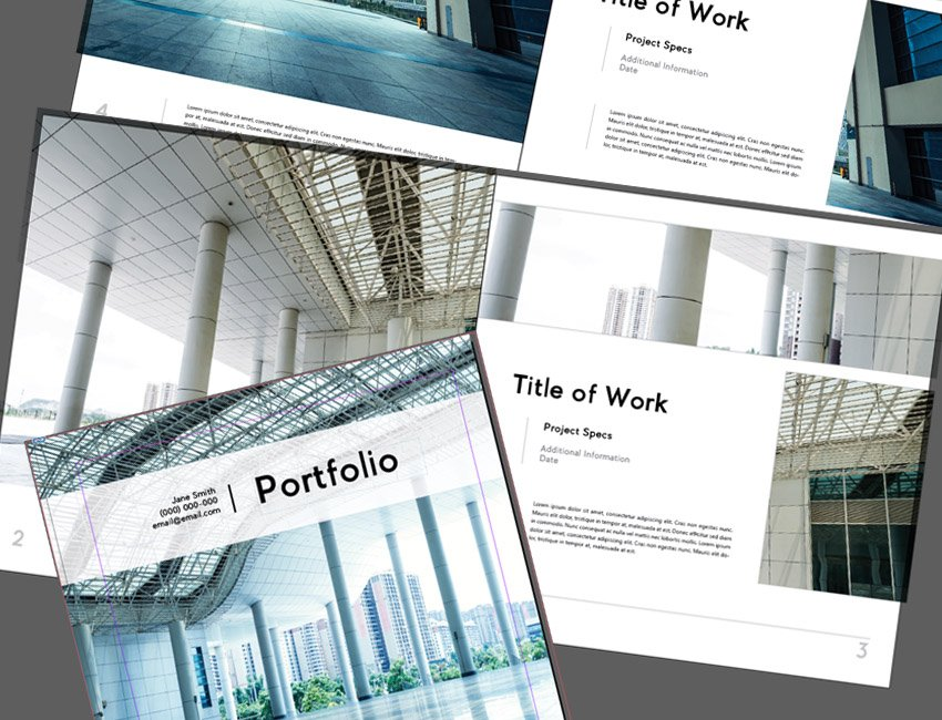 How To Make An Architecture Portfolio Template In Indesign