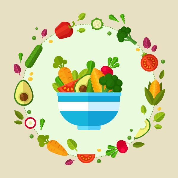 vegetable poster in affinity designer