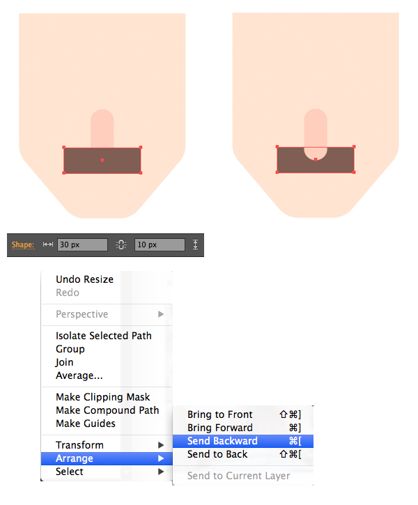 make a mustache from rectangle 1