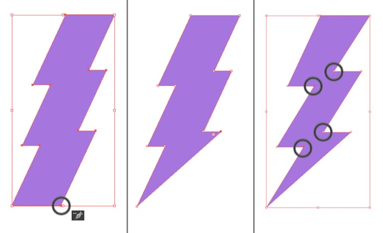 make a lightning bolt emblem 3