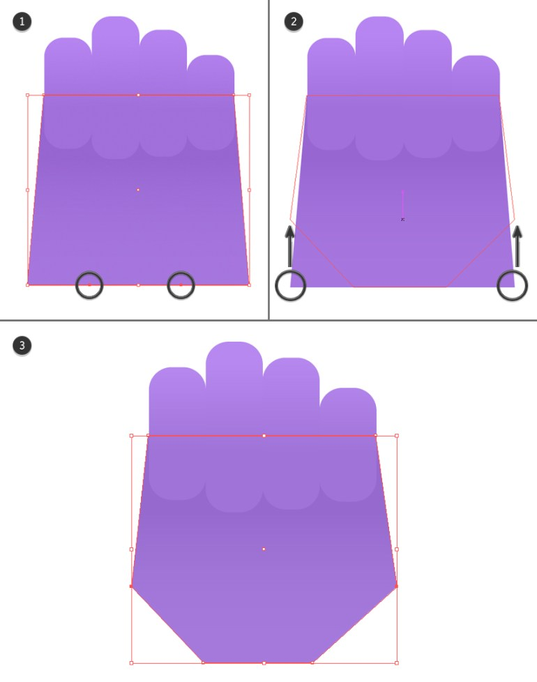 make a palm from a rectangle 2