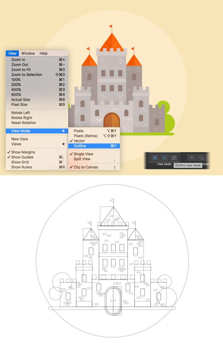 affinity designer viewing mode