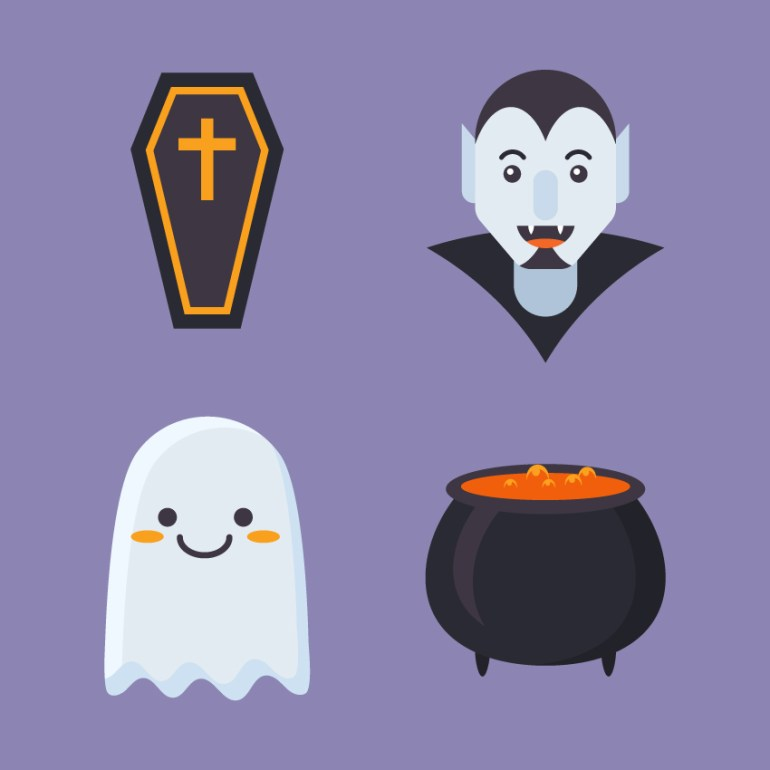 Flat Halloween Icons are finished