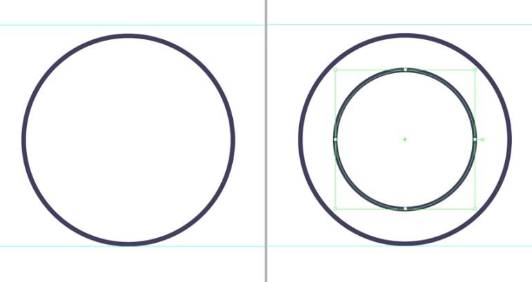 make a circle for the base