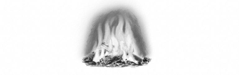 how to draw fire in grayscale