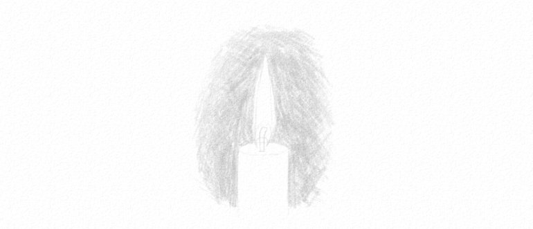 how to darken bckground with pencil