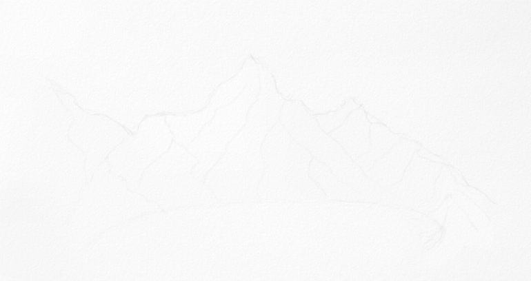 how to start drawing a mountain